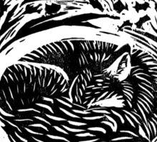 Hibernating Fox  Sticker