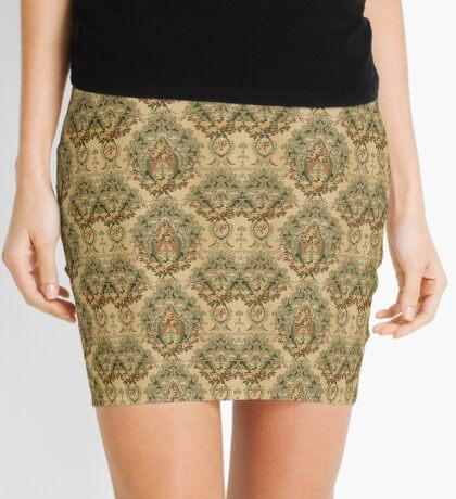 Victorian Fabric Pattern Mini Skirt