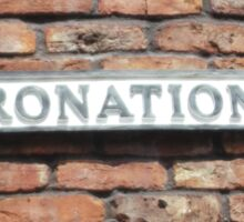 Coronation street  sign. Sticker