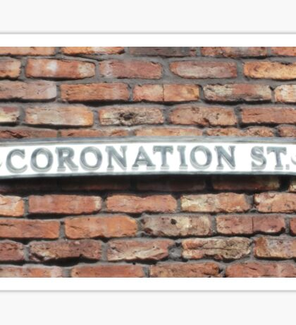 Coronation street  sign. Sticker