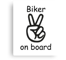 Biker on board Canvas Print