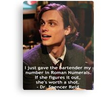 Dr. Spencer Reid 1 Metal Print