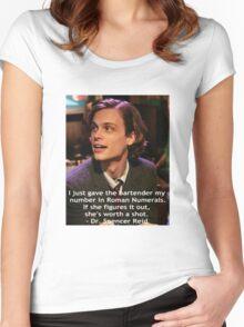 Dr. Spencer Reid 1 Women's Fitted Scoop T-Shirt