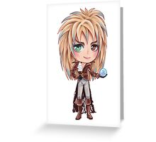 David Bowie - Chibi Labyrinth Goblin King Greeting Card