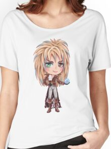 David Bowie - Chibi Labyrinth Goblin King Women's Relaxed Fit T-Shirt