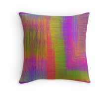 Fury citrus colours Throw Pillow