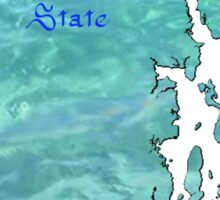 Rhode Island Map with State Nickname:  The Ocean State Sticker