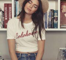 Kendall Jenner - Books Sticker
