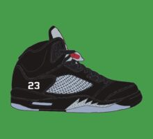 "Air Jordan V (5) ""Black Metallic"" Baby Tee"