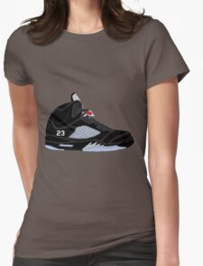 "Air Jordan V (5) ""Black Metallic"" Womens Fitted T-Shirt"