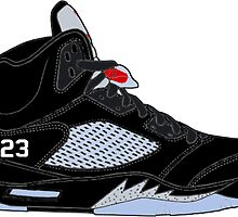 "Air Jordan V (5) ""Black Metallic"" by gaeldesmarais"