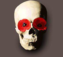 Skull with Poppy Eyes Unisex T-Shirt
