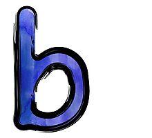 Watercolor - B - blue Photographic Print