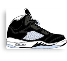 "Air Jordan V (5) ""Oreo"" Canvas Print"