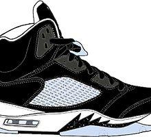"Air Jordan V (5) ""Oreo"" by gaeldesmarais"