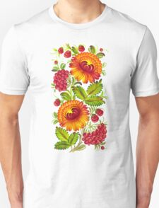 Girly Vintage Tribal Floral Pattern T-Shirt