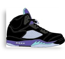 "Air Jordan V (5) ""Black Grape"" Canvas Print"