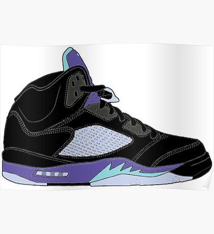 "Air Jordan V (5) ""Black Grape"" Poster"