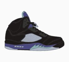 "Air Jordan V (5) ""Black Grape"" Kids Tee"