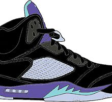 "Air Jordan V (5) ""Black Grape"" by gaeldesmarais"