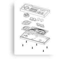 NES: Just the Guts (black) Canvas Print