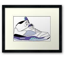 "Air Jordan V (5) ""White Grape"" Framed Print"