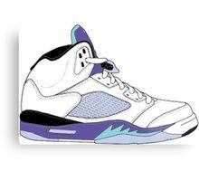 "Air Jordan V (5) ""White Grape"" Metal Print"
