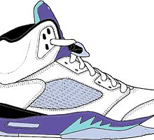 "Air Jordan V (5) ""White Grape"" by gaeldesmarais"
