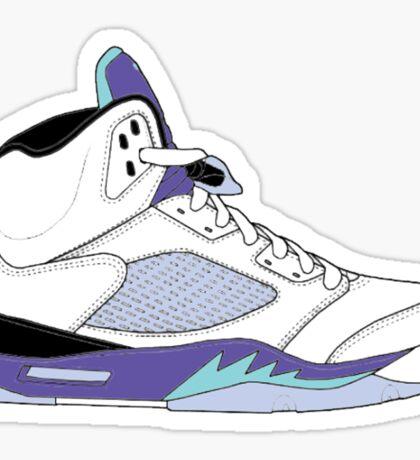 """Air Jordan V (5) """"White Grape"""" Sticker"""