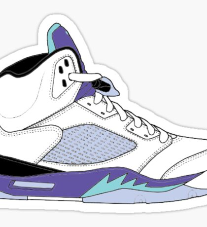 "Air Jordan V (5) ""White Grape"" Sticker"