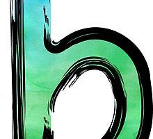 Watercolor - B - green by hartzelldesign
