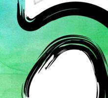 Watercolor - B - green Sticker