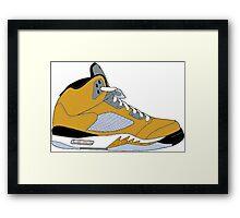 "Air Jordan V (5) ""Tokyo"" Framed Print"
