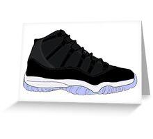 """Air Jordan XI (11) """"Space Jam"""" Greeting Card"""
