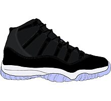 "Air Jordan XI (11) ""Space Jam"" Photographic Print"