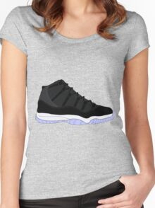 "Air Jordan XI (11) ""Space Jam"" Women's Fitted Scoop T-Shirt"