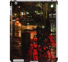 Bikes in Davis Square at Night iPad Case/Skin