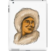 Eskimo Inuit Hooded Parka Watercolor iPad Case/Skin