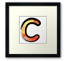 Watercolor - C - orange Framed Print