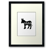 Proud Democrat Framed Print