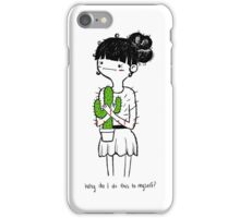 Cactus Hug by Sarah Pinc iPhone Case/Skin