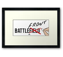 BATTLE(front)Field Framed Print