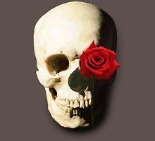 Skull with Rose in Eye Unisex T-Shirt