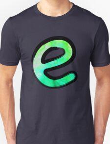 Watercolor - E - green Unisex T-Shirt