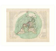 AE MAP Flat Earth Art Print