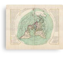 AE MAP Flat Earth Canvas Print