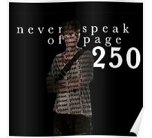 NEVER SPEAK OF PAGE 250 - THE MAZE RUNNER Poster