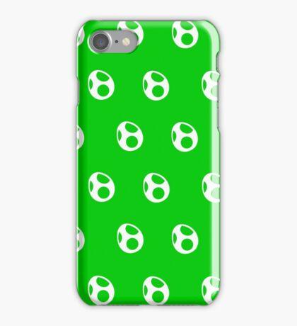 Yoshi Eggs (White) iPhone Case/Skin
