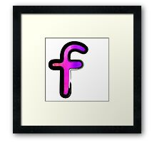 Watercolor - F - pink Framed Print