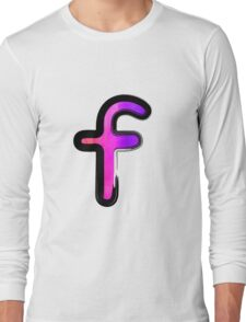 Watercolor - F - pink Long Sleeve T-Shirt